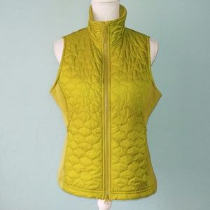 L.L. Bean Lime Green Quilted Vest Medium